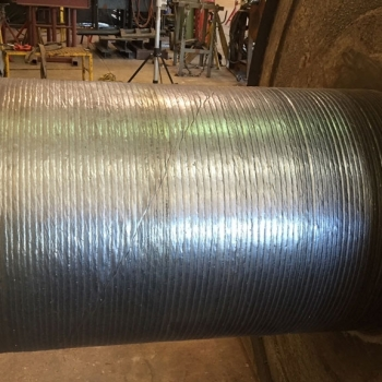 Allis-Chalmers-Trunnion-Roller-Being-Rebuilt