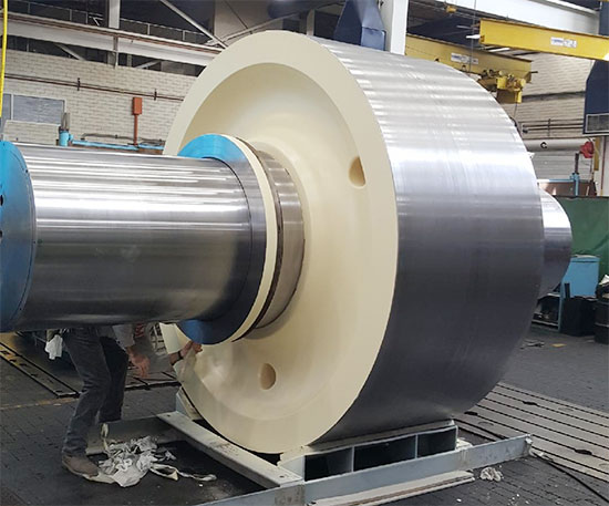102 inch Trunnion Roller repaired