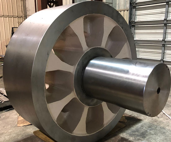 72 inch Trunnion Roller repaired